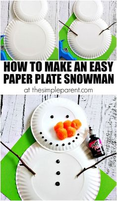 Learn how to make a paper plate snowman!
