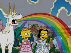 Imagem de unicorn, simpsons, and rainbow mundo de energia com Lisa e Débora nas terras de unicórnio de Assis de 1966 1026 CABELO Cartoon Profile Pictures, Cartoon Icons, Vintage Cartoon, Futurama, Indie Kids, Cartoon Wallpaper, The Simpsons, Reaction Pictures, Cute Wallpapers
