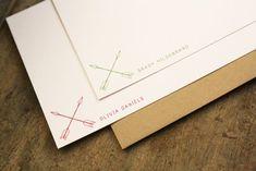 Tribal Arrows Stationary - Stationery Set of 20