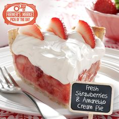 Fresh Strawberries  Amaretto Cream Pie Recipe from Taste of Home