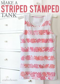 How to Make a Striped Stamped Tank