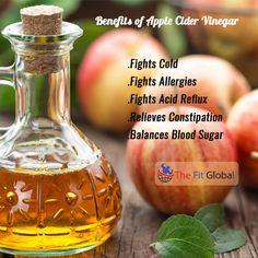 Benefits of Apple Cider Vinegar #apple #home #health #thefitglobal