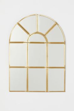 Window-shaped mirror with a metal frame. Hanger loop at back. Screws not included. 10 x 14 in. Home Interior Accessories, Room Interior, Interior Design, Apartment Interior, Spiegel Gold, Home Goods Decor, Home Decor, Fragrant Candles, Gift Card Shop