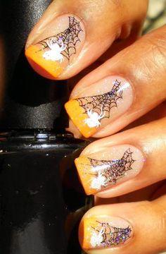 Enamel Girl:  Halloween #nail #nails #nailart