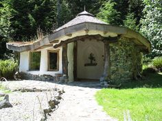 """COB HOUSE - clumps of clay, eart, sand, water and straw mixed together create """"cob""""."""