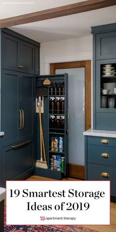 From small studio apartments filled with smart ways to maximize space to hidden ideas for those items you don't want to see to solutions worth sharing because they just plain look goodthese are the best storage ideas we saw this year from house tours. Tiny House Storage, Small Kitchen Storage, Kitchen Storage Solutions, Small Space Storage, Smart Storage, Storage Hacks, Diy Storage, Locker Storage, Small House Diy