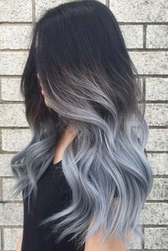 Are you looking for ombre hair color for grey silver? See our collection full of ombre hair color for grey silver and get inspired! Ombre Hair Color, Cool Hair Color, Gray Ombre, Brown To Grey Ombre, Pastel Ombre Hair, Faded Hair Color, Wash Out Hair Color, Gradient Hair, At Home Hair Color