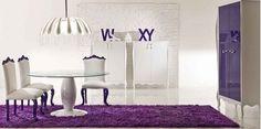 9 purple dining room purple