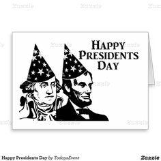 Happy Presidents Day Stationery Note Card by #TodaysEvent  #gravityx9 #zazzle -