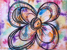 Colorful flower Colorful Flowers, Washer Necklace, Art, Art Background, Kunst, Art Education