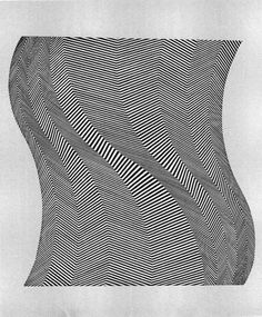TWIST, Bridget Riley is a British artist. Around 1960 she began to develop her signature Op Art style consisting of black and white geometric patterns that explore the dynamism of sight and produce a disorienting effect on the eye. Bridget Riley, Hard Edge Painting, Sir Anthony, Optical Illusions, Graphic Design Illustration, Art History, Line Art, Pop Art, Black And White