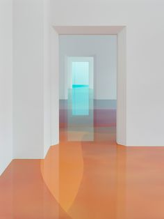 Peter Zimmermann's Walk In Art Installation | digital filters used to transfer imagery onto the floor in several layers of transparent epoxy resin.