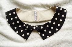 Coco collar  coco chanel style  big polka dots by qtpiworkshop, $25.00