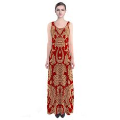 Loyal to the Lannisters Sleeveless Maxi Dress. We love #GameofThrones! Perfect for cosplay, fun, or regular Sunday viewings of Game of Thrones!