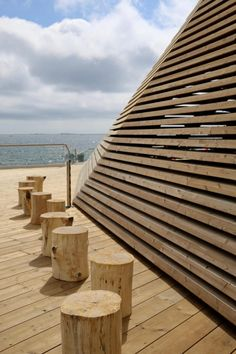 Löyly, an urban oasis of wood, offering exceptional architecture in a unique location Helsinki, Wood Design, Finland, Oasis, Seaside, Urban, Architecture, Unique, Arquitetura