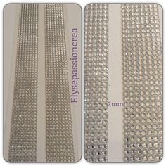 grande plaque de 1424 strass autocollant forme diamant couleur argenté transparent 2 mm : Embellissements par elyse-passion-crea