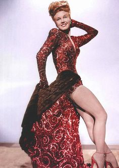 Costume designed by Edith Head for Ginger Rogers in Lady in the Dark (1944)