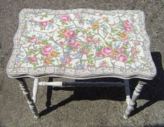 Mosaic table made from broken china! Do to top of coffee table?