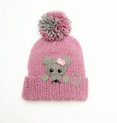 Lion Hat, Knit Kids Hat, Winte