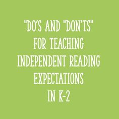 Today we are going to focus on that super-important independent reading time - specifically, how to teach read to self in the primary grades! Teaching Letters, Teaching Kindergarten, Teaching Reading, Teaching Kids, Learning, Reading Time, Kids Reading, Reading Activities, Reading Skills