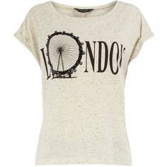 Cream London Eye tee (385 HNL) ❤ liked on Polyvore featuring tops, t-shirts, shirts, blusas, t shirts, print t shirts, short sleeve tee, tee-shirt and scoop neck tee