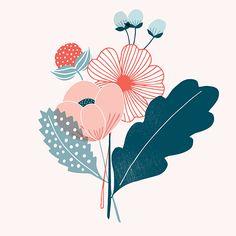 New Flowers Illustration Design Graphics Print Patterns 39 Ideas Art Floral, Motif Floral, Flower Graphic, Art And Illustration, Floral Illustrations, Pattern Illustration, Inspiration Art, Art Inspo, Posca Art