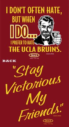 Dont be a D!ck Anti-UCLA Cardinal Sticker USC Football Fans