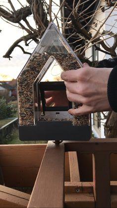 Hier der 3. Schritt Nun kann man den Vorratsbehälter entfernen.  #EMSA #emsaprodukttest #emsafuttersilo #DasAndereVogelhaus #Produkttest #Vogelfreunde #Vogelfre(n)de
