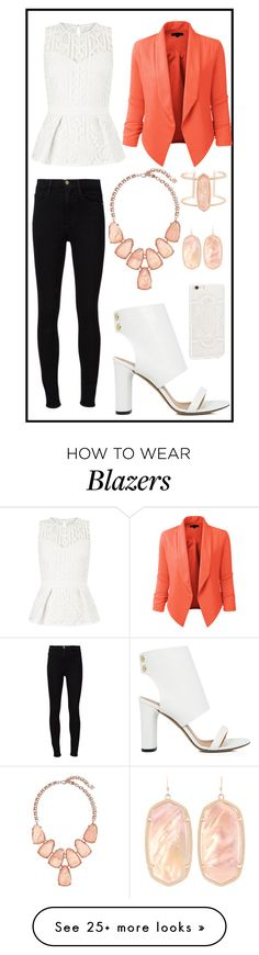 """""""288: Workoutfit"""" by alinepelle on Polyvore featuring Lipsy, Frame Denim, LE3NO, Kendra Scott and IRO"""