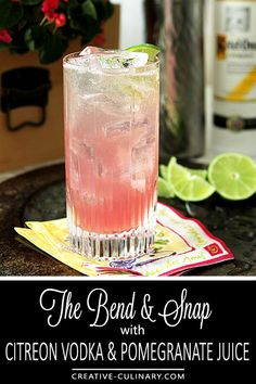 You don't have to be blonde but you should probably be legal to enjoy The Bend and Snap with Citreon Vodka inspired by the move 'Legally Blonde.' It's perfect for summer...light, refreshing and well, pink! via @creativculinary #cocktails #summer #vodka #lemon #pomegranage #gingerbeer #drinks
