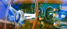 1957 Porsche 1600 Super Steering Wheel - Car photographs  by Jill Reger