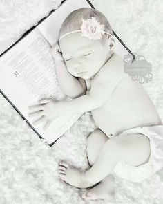 Newborn Baby with Bible Life Reflections by Kimberly Dawn White House TN