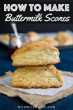 Basic Buttermilk Scones made with an easy buttermilk scone recipe that yields tender scones. This scone recipe can be customized easily with different flavors or added filling like blueberry for summer and apple for Fall. Buttermilk Scone Recipe, How To Make Buttermilk, Hp Sauce, Apple Scones, Simply Yummy, Pastry Blender, Pound Cake Recipes, Keto, Cooking Recipes