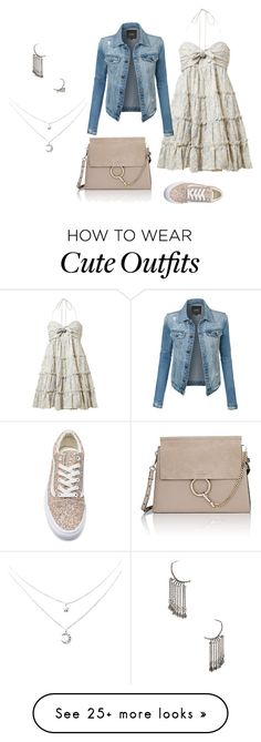 """Cute Day Outfit"" by viviennehunt on Polyvore featuring Zimmermann, Chloé, LE3NO, Vans and Yves Saint Laurent"