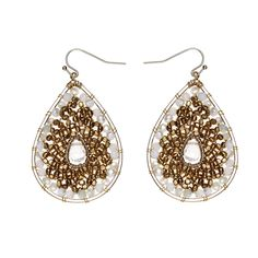 Nakamol Graduating Beaded Circle Drop Earrings oqtAKr