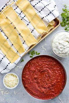 Meat lasagna is the perfect Italian comfort food! Tender pasta noodles layered with tomato sauce, ground beef, chopped pork sausage, creamy ricotta, and mozzarella cheese. Baked Lasagna, Lasagna Casserole, Meat Lasagna, Cheese Lasagna, Meat Sauce, Tomato Sauce, Ground Beef Lasagna Recipe, Italian Dishes, Italian Pasta