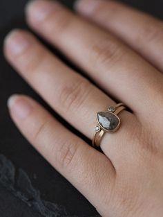 Open Cuff Diamond Ring  / Alexis Russel
