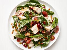 Get this all-star, easy-to-follow Spinach-Bacon Salad with Chicken recipe from Food Network Kitchen
