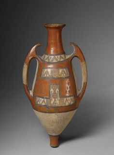 Africa   Water vessel. These types of jars were worn by women on their backs to fetch water from wells and springs and then to store it in their homes.   Ouadhias culture. Taguemont, Tizi Ouzou, Algeria   Ca. early 20th century