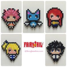 Fairy Tail perler beads by boxofpandora.xoxo