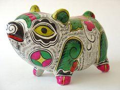 Sculpture en Argile  zodiaque chinois le Cochon