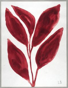 """ vjeranski: LOUISE BOURGEOIS. Les Fleurs, 2009. gouache on paper """