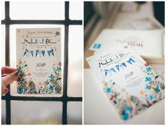 Homemade wedding invitations found at http://eleanorjoyphotography.co.uk