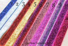 Glitter Foldover Elastic For DIY Creaseless Hair Ties. Tons of Colors, Patterns & Sparkles. Hairbow Supplies of all kinds.
