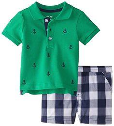 Little Me Baby Boys' Anchor Shortset, Navy Multi, 12 Months. Little My, Boy Clothing, Clothing Sets, Clothes, Baby Boy Outfits, Outfit Sets, Short Set, Men Casual, Kleding