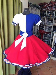 Resultado de imagen para venta de vestidos de huasa Folklore, Looking For Women, Color Patterns, Cheer Skirts, Sexy, Sleeves, How To Wear, Outfits, Square Dance