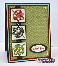 "Stampin' Up! Supply List:   Stamps: Day of Gratitude  Paper: Autumn Spice DSP (ret.), Cajun Craze, Chocolate c/hip, Pool Party, Old Olive and Very Vanilla card stock  Ink: Cajun Craze, Chocolate Chip and Old Olive Classic ink  Accessories: 1- 1/4"" Square punch, 1- 3/8"" Square punch, Small Oval punch (ret.), Large Oval punch, Houndstooth Embossing folder, Pool Party Stampin' Write /marker, Chocolate Chip 1/2"" Scallop Dot ribbon, Stamping Sponges, Stampin' Dimensinals and basic Pearls"