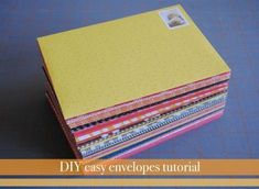 Make Easy DIY Envelopes Easy diy envelopes tutorial and template.Easy diy envelopes tutorial and template. Homemade Envelopes, Homemade Cards, Diy Envelope Tutorial, Diy Envelope Template, Envelope Art, Envelope Liners, How To Make An Envelope, How To Make Envelopes, Do It Yourself Inspiration