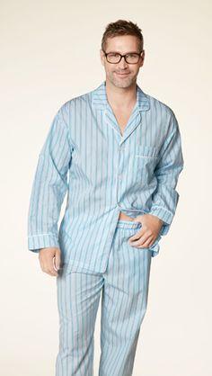 3ea99de79e Bedhead Men s Turquoise Stripe Classic Cotton Pajama Set