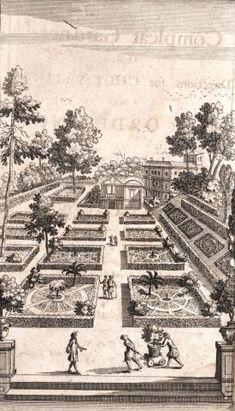 Garden plan, rectangular beds, formal